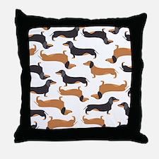 Cute Dachshunds Throw Pillow