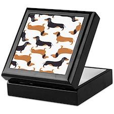 Cute Dachshunds Keepsake Box