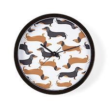 Cute Dachshunds Wall Clock