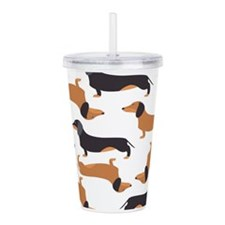 Cute Dachshunds Acrylic Double-wall Tumbler