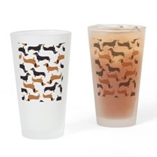 Cute Dachshunds Drinking Glass