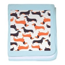Cute Dachshunds baby blanket