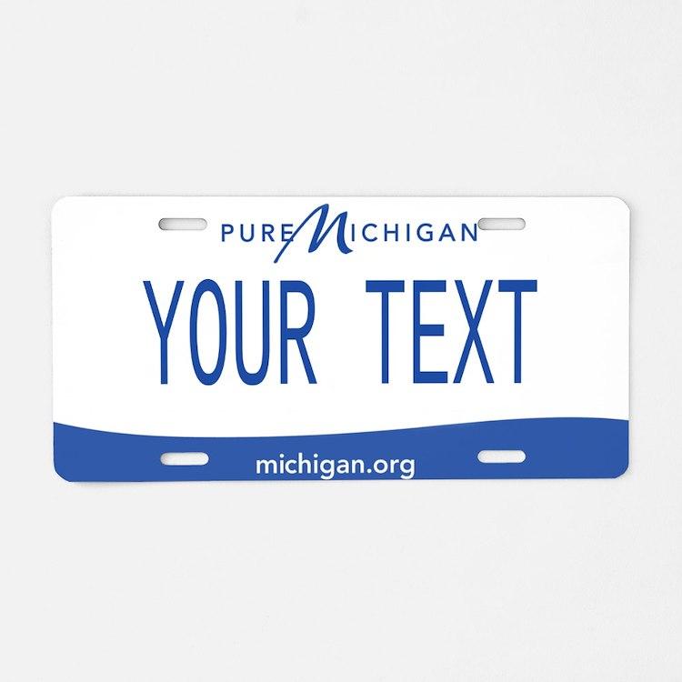 Michigan Custom Aluminum License Plate