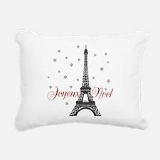 Paris Christmas Rectangular Canvas Pillow