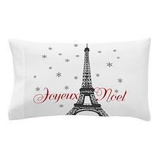 Paris Christmas Pillow Case