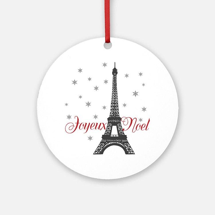 Paris Christmas Ornament (Round)