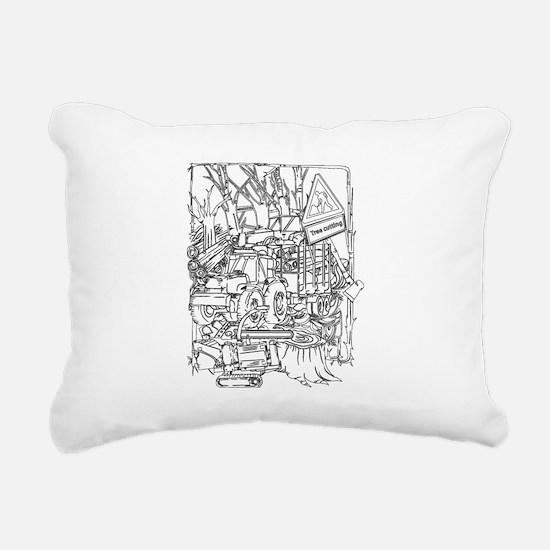 Cute Forester Rectangular Canvas Pillow
