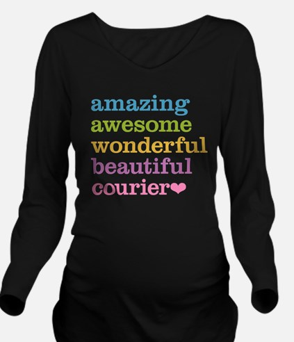 Amazing Courier Long Sleeve Maternity T-Shirt