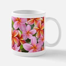 Pink Plumeria Flowers Mugs