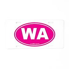 Washington WA Euro Oval Aluminum License Plate