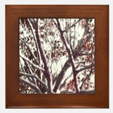 Red Tree Framed Tile