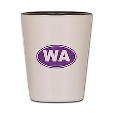 Washington WA Euro Oval Shot Glass