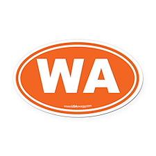 Washington WA Euro Oval Oval Car Magnet