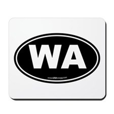 Washington WA Euro Oval Mousepad