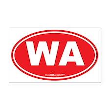 Washington WA Euro Oval Rectangle Car Magnet