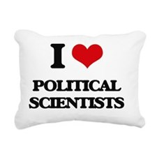 I love Political Scienti Rectangular Canvas Pillow