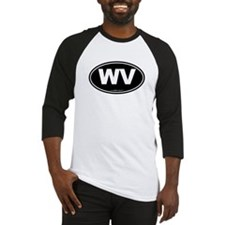 West Virginia WV Euro Oval Baseball Jersey