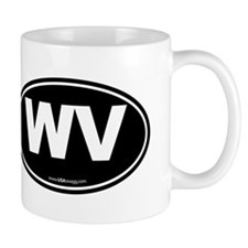West Virginia WV Euro Oval Mug