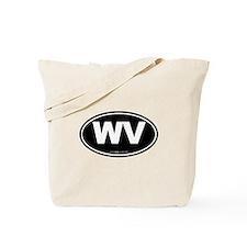 West Virginia WV Euro Oval Tote Bag