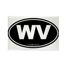 West Virginia WV Euro Oval Rectangle Magnet