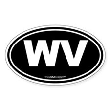 West Virginia WV Euro Oval Decal