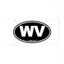 West Virginia WV Euro Oval Aluminum License Plate
