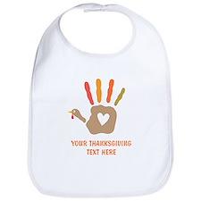 Personalized Turkey Hand Print Bib