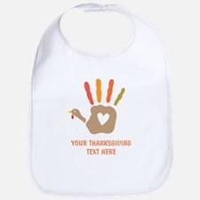 Personalized Turkey Hand Print Bib