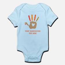 Personalized Turkey Hand Print Body Suit