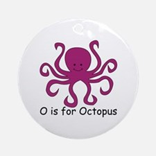 O is for Octopus Ornament (Round)