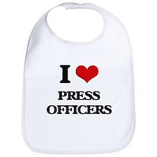 I love Press Officers Bib