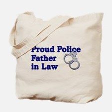 Proud Police Father-in-Law Tote Bag