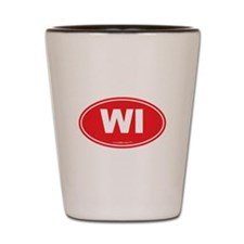 Wisconsin WI Euro Oval Shot Glass