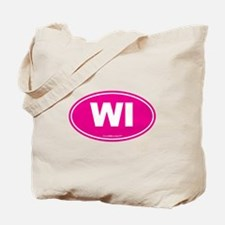 Wisconsin WI Euro Oval Tote Bag