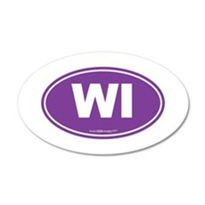 Wisconsin WI Euro Oval Wall Decal