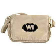 Wisconsin WI Euro Oval Messenger Bag