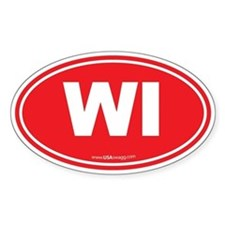 Wisconsin WI Euro Oval Decal