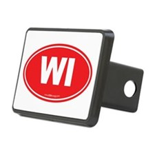 Wisconsin WI Euro Oval Hitch Cover