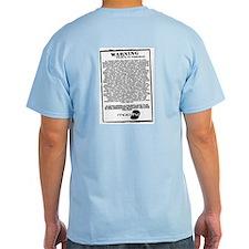 Light color T-Shirt, WARNING