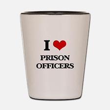 I love Prison Officers Shot Glass