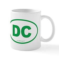 Washington DC Euro Oval Mug