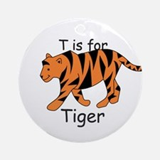 T is for Tiger Ornament (Round)