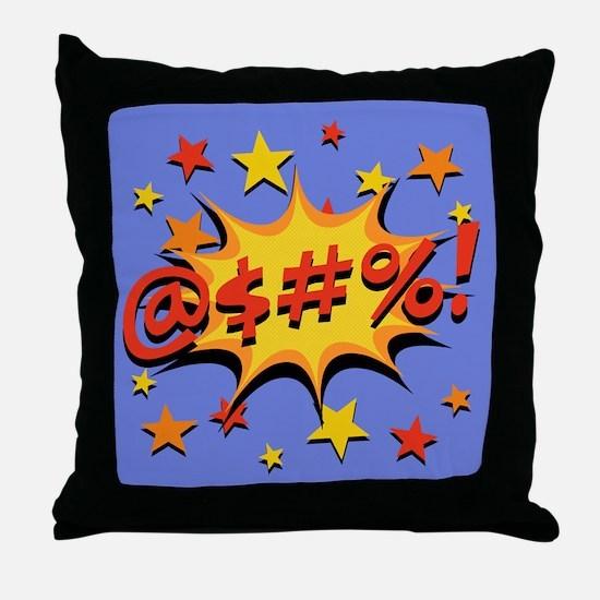 Expletive Bang Throw Pillow