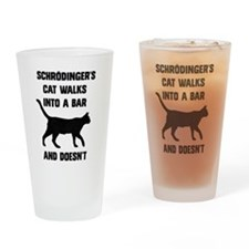 Schrodingers Cat Drinking Glass
