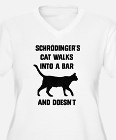 Schrodingers Cat Plus Size T-Shirt
