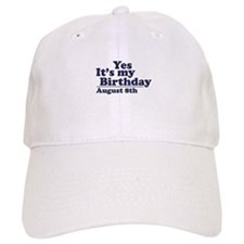 August 8 Birthday Baseball Cap