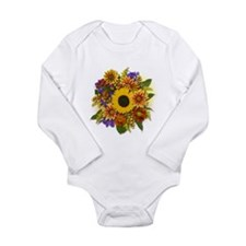 Autumn Bouquet Long Sleeve Infant Bodysuit