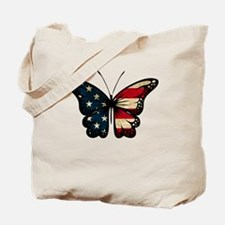 Puerto Rican Flag Butterfly Tote Bag