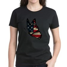 Puerto Rican Flag Butterfly Tee