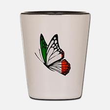 Italian Flag Butterfly Shot Glass